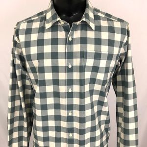 Patagonia Button Up Shirt Checker Cream Gray L